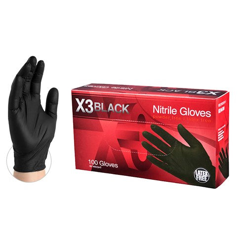 AMMEX® BX3 Black Nitrile Industrial Glove - NYDIRECT