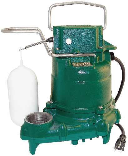 Zoeller 53-0001 M53 Mighty-mate Submersible Sump Pump 1/3 HP - NYDIRECT