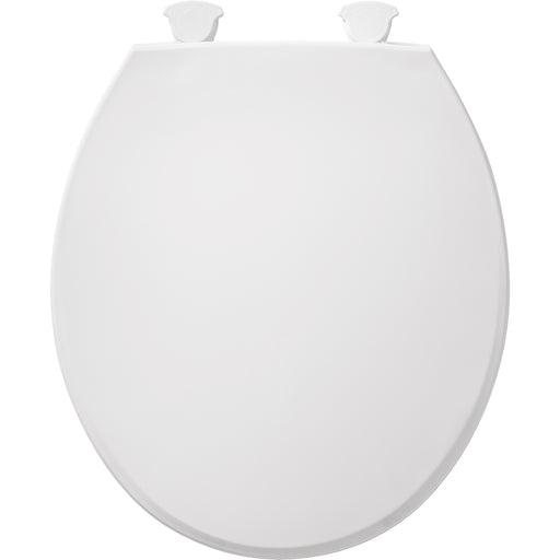 BEMIS 800EC Round Plastic Toilet Seat in White with Easy•Clean & Change® Hinge - NYDIRECT