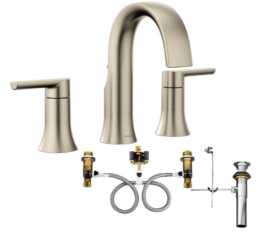 Moen TS6925BN-9000 Doux Widespread Bathroom Faucet with Valve - NYDIRECT