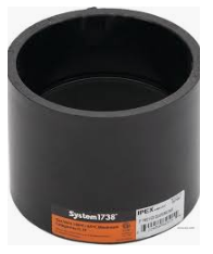 "IPEX 397354 4"" PVC Coupling HxH System 1738 - NYDIRECT"