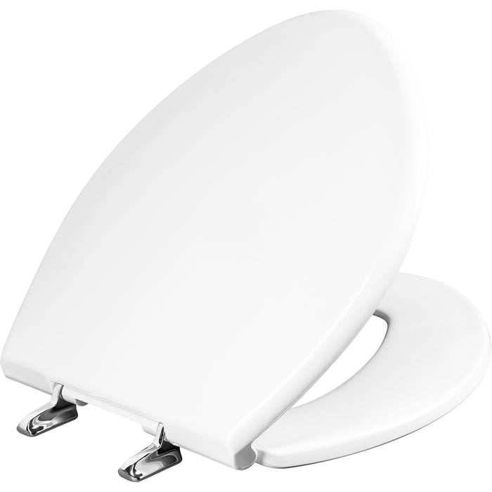 BEMIS 1000CPT Round/Elongated Paramont™ Commercial Plastic Toilet Seat in White with Chrome Hinge and STA-TITE® Commercial Fastening System™ - NYDIRECT