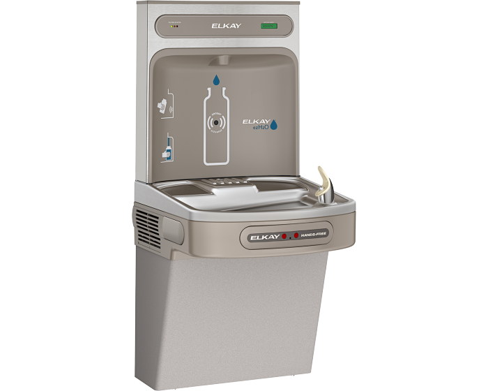 Elkay LZS8WSLK EZH2O Bottle Filling Station with Single ADA Cooler, Filtered 8 GPH Light Gray - NYDIRECT
