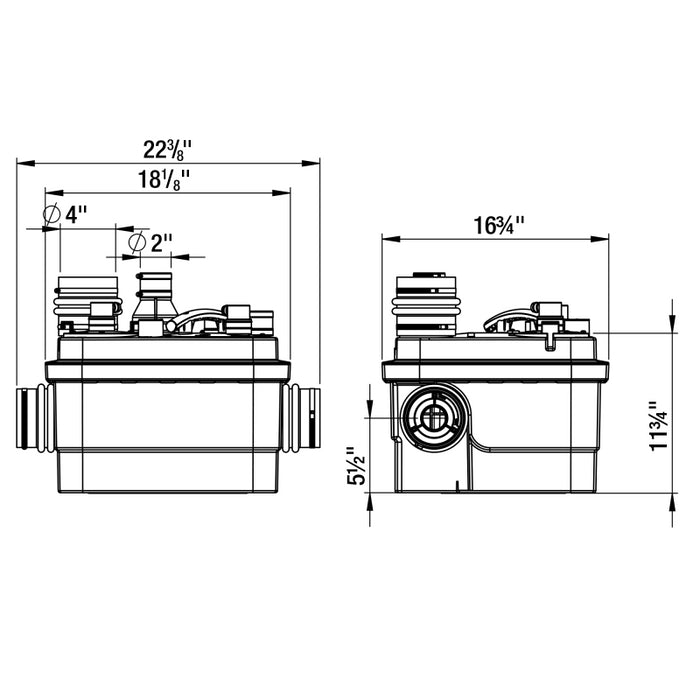 Saniflo 069 Sanicubic 1 Simplex Grinder System - NYDIRECT