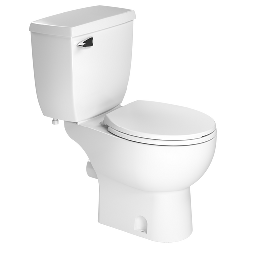 Saniflo Round Rear Discharge Toilet - NYDIRECT