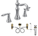 Moen TS42108-9000 Weymouth Widespread Lever Handle Bathroom Faucet with Valve - NYDIRECT