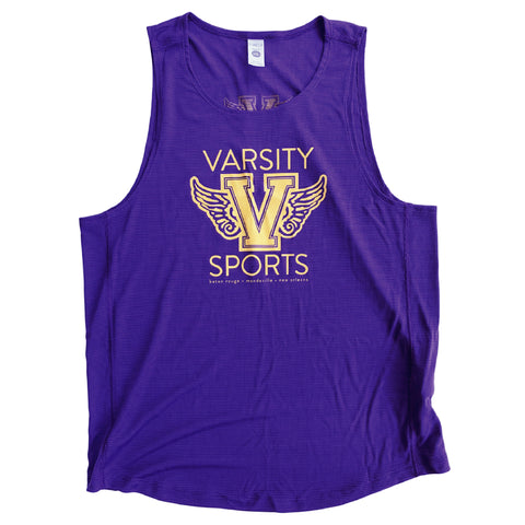Varsity Sports Purple and Gold Spirit Singlet - Men