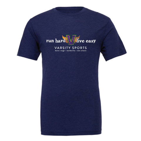 Varsity Sports Short Sleeve T-Shirt (Navy TriBlend)