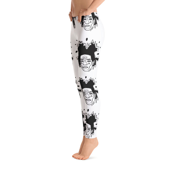 Basquiat Ancestor Leggings (Ice)