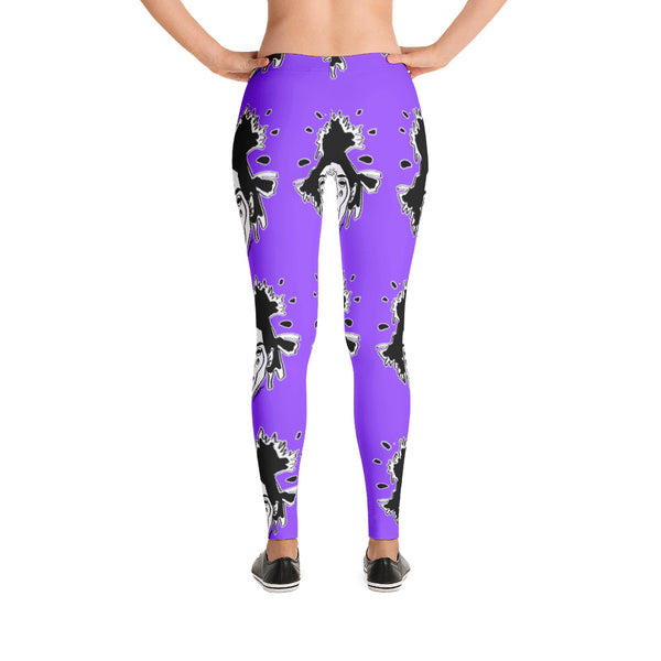 Basquiat Ancestor Leggings (Grape)