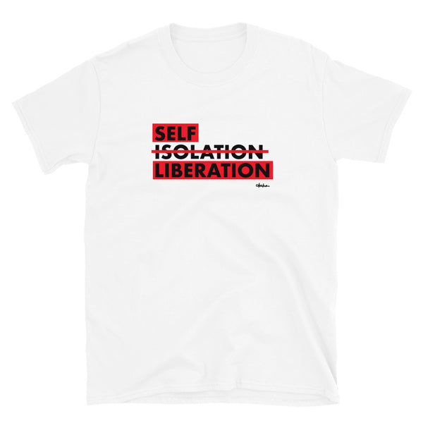 'Self Liberation' Short-Sleeve Unisex T-Shirt (White/Grey)