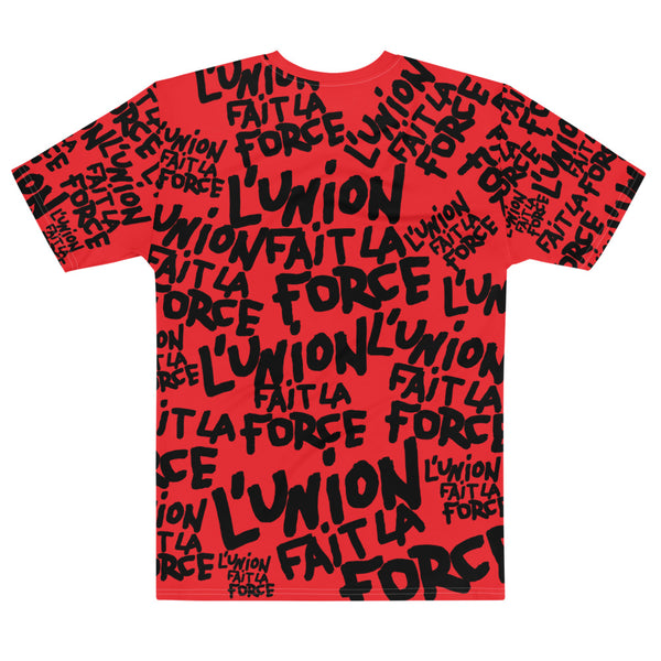 'L'Union Fait La Force' All-Over Unisex Tee (Red)