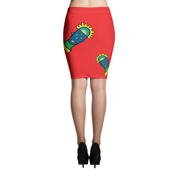Benin Pencil Skirt