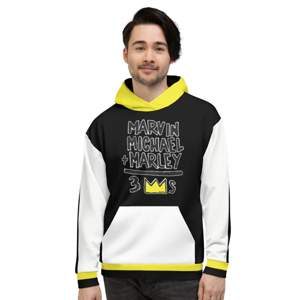 3 Kings: Marvin, Michael, Marley Unisex Hoodie