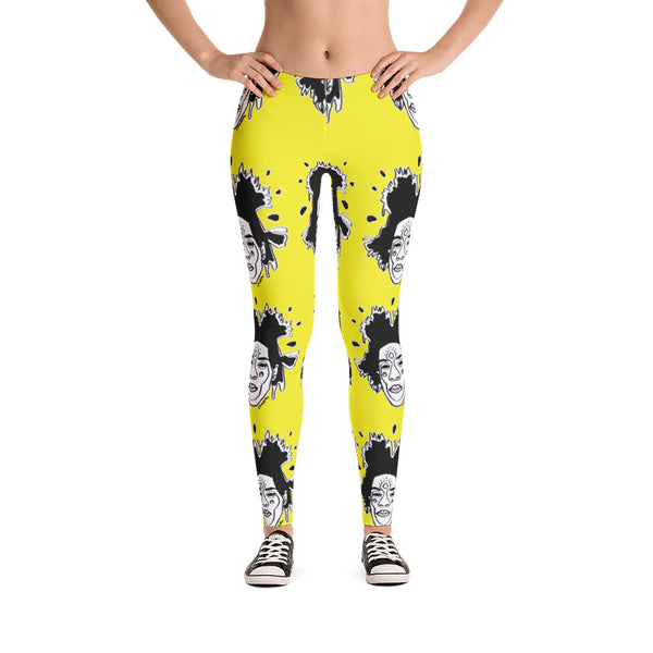 Basquiat Ancestor Leggings (Lemon)