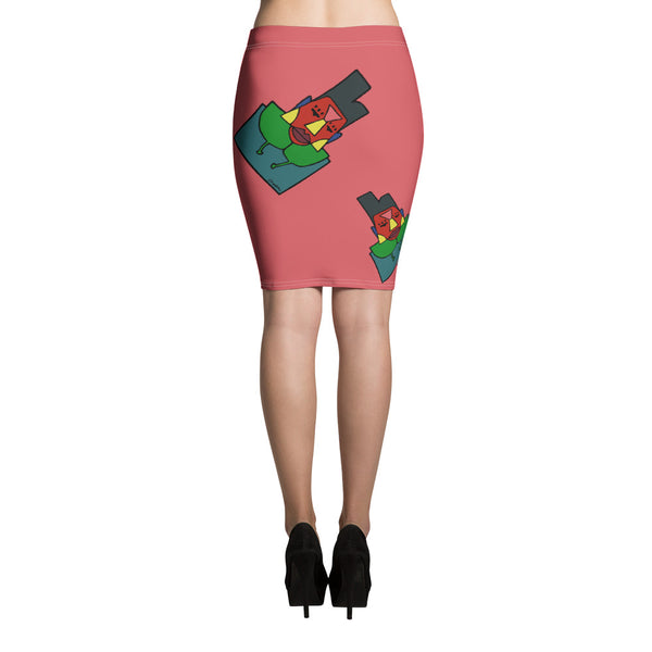 Hi Lo Pencil Skirt