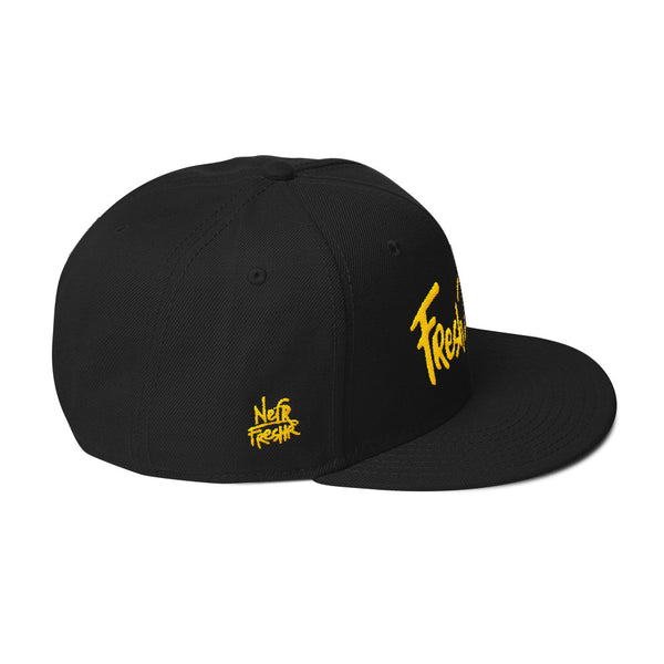 Fresh2Life Snapback Hat (Yellow Lettering)