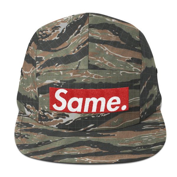 'Same' Five Panel Cap (Camo, Black, Gray)