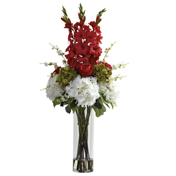 Stunning Nearly Natural Giant Mixed Floral Arrangement for Home or Office - Fine Design Trading Company