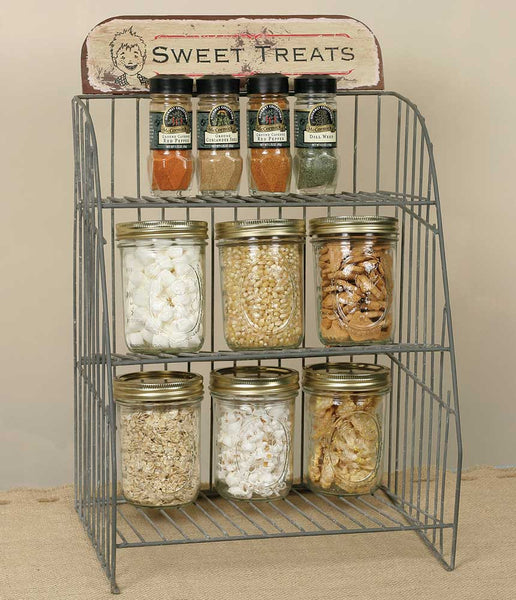 'Sweet Treats' Wire Shelf Display