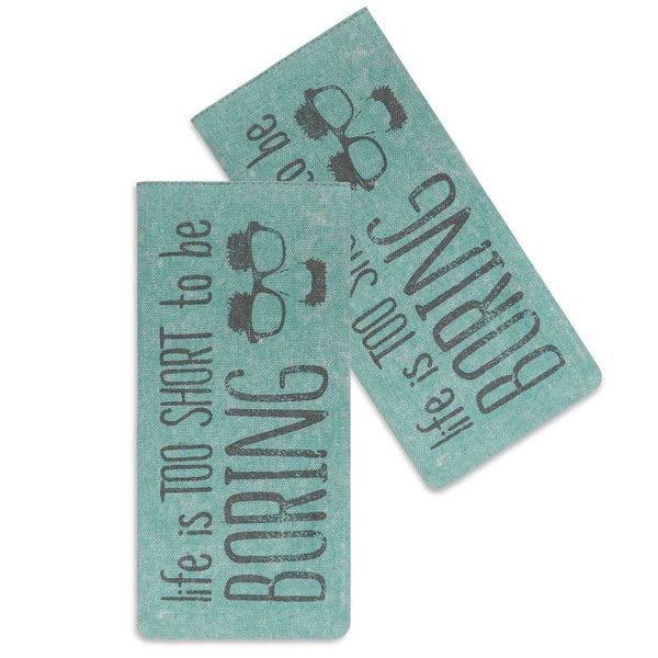 'Life is Too Short' Glasses Case