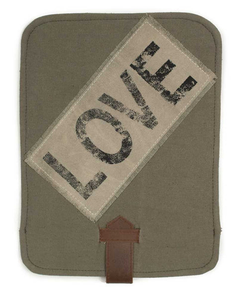 Love Canvas/Leather Tablet Cover - Fine Design Trading Company