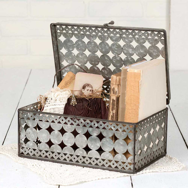 Perforated Rectangle Box - Fine Design Trading Company