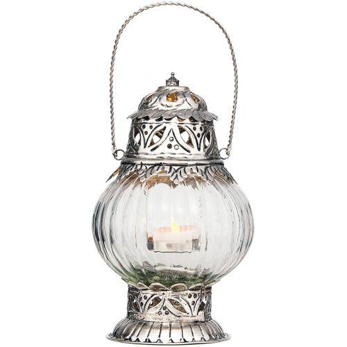 'Sultan' Hancrafted Hanging Glass Moroccan Candle Lantern