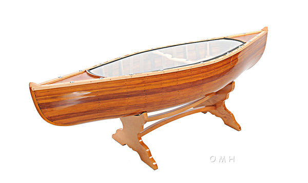 Stunning! Handcrafted Canadian Cedar Canoe Table - 5 Feet