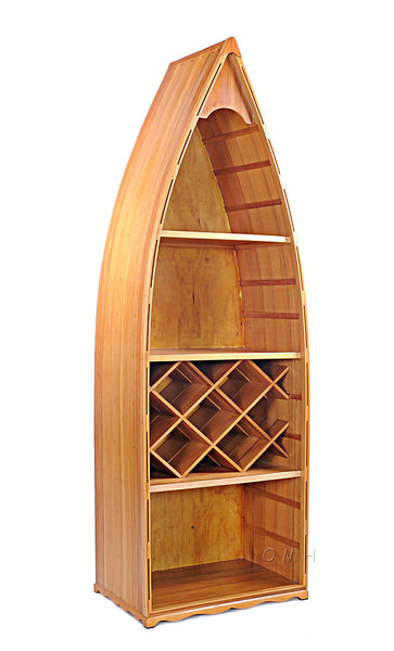 Stunning! Handcrafted Canadian Cedar Canoe Shelf