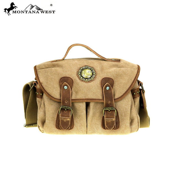 Montana West Leather & Canvas Shoulder/Crossbody Bag - Fine Design Trading Company