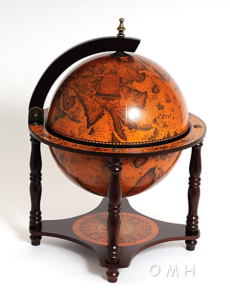 Old Nautical Globe Tabletop Bar