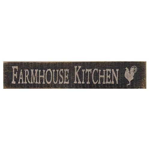 'Farmhouse Kitchen' Wood Sign - Fine Design Trading Company