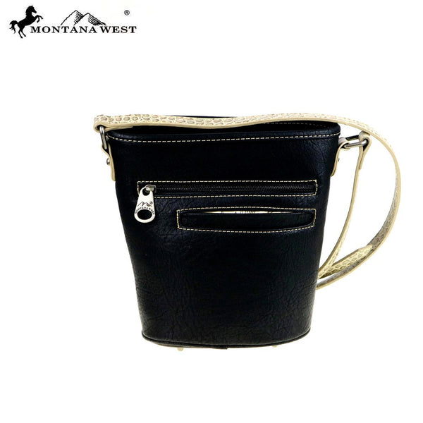Montana West Concho Collection Bucket Shape Crossbody Bag - Fine Design Trading Company