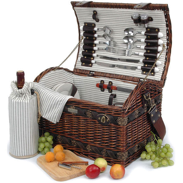 The Couture Collection Willow Picnic Set for Four - Fine Design Trading Company