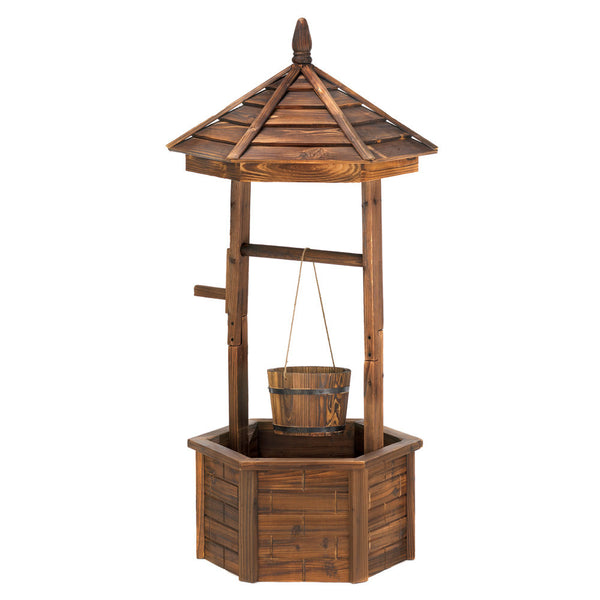 Rustic Wishing Well Planter - Fine Design Trading Company