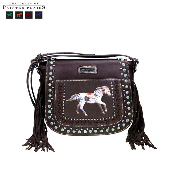 Montana West 'The Trail Of Painted Ponies' Collection Crossbody Saddle Bag (Exclusive) - Fine Design Trading Company