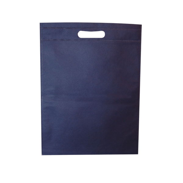 WELDED NAVY ECO BAGS WITH DIE CUT HANDLES - 500 UNITS