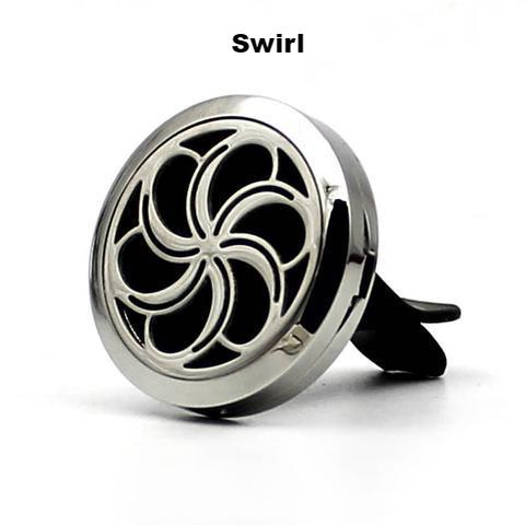 Essential Oil Aroma Car Diffuser  Stainless Steel Locket Vent Clips