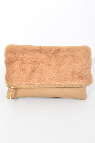 So Fluffy Pink Clutch