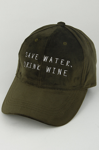 Save Water, Drink Wine Dad Hat