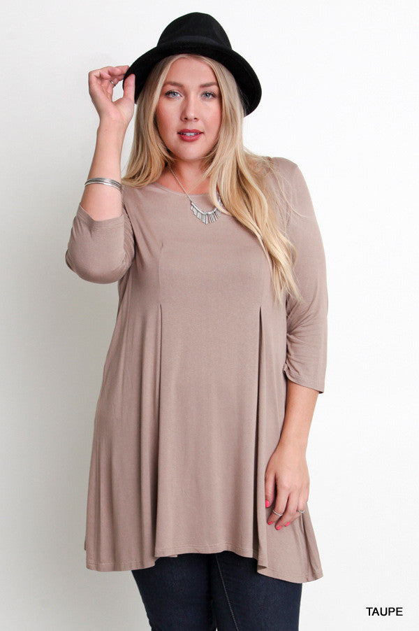 3/4 Sleeve Relaxed Fit Dress