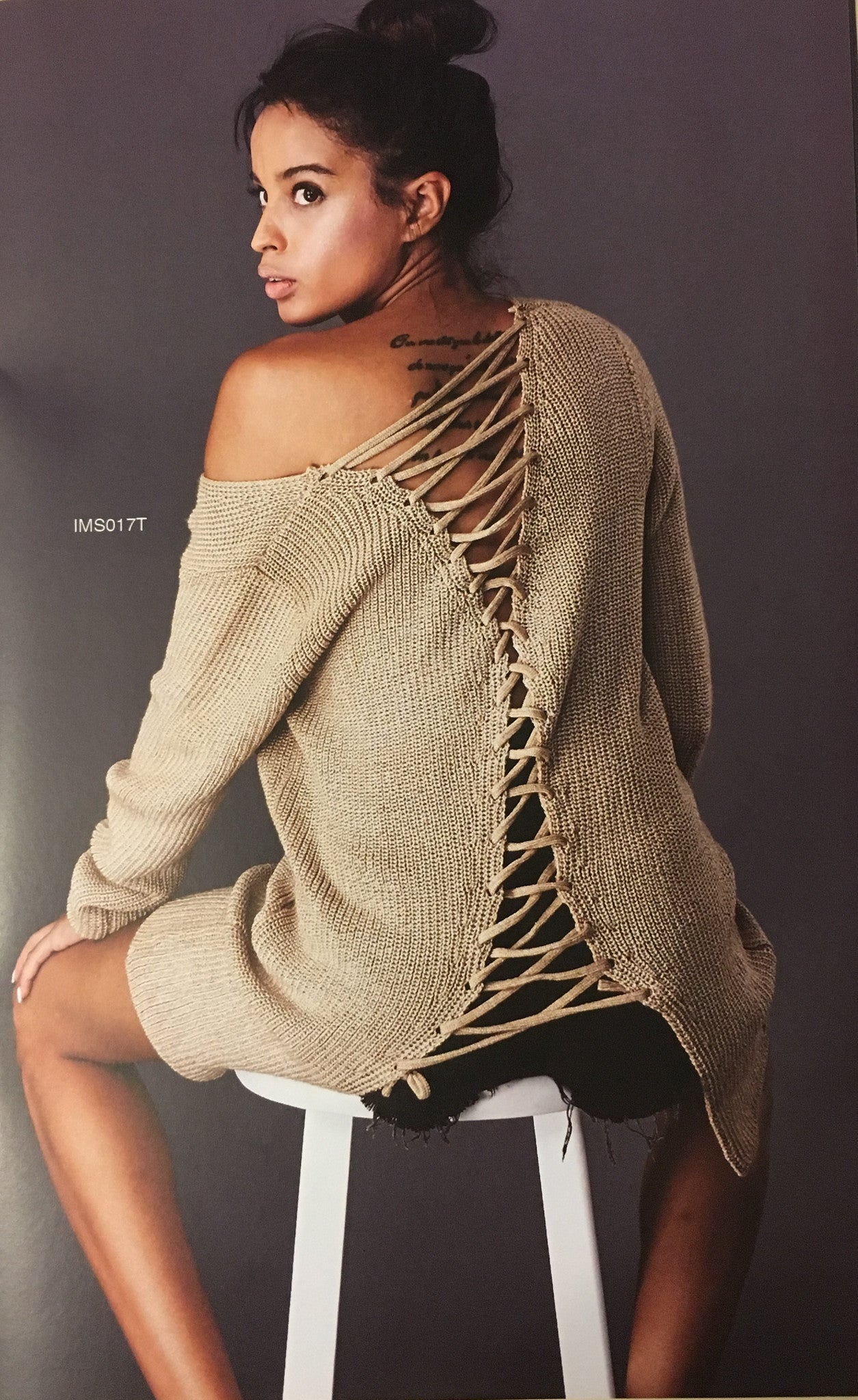 Back Laceup Sweater