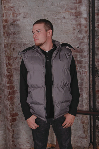 Solid Hooded Vest