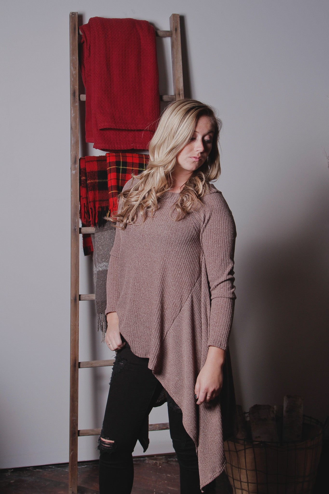 LS Slouchy Sweater Top