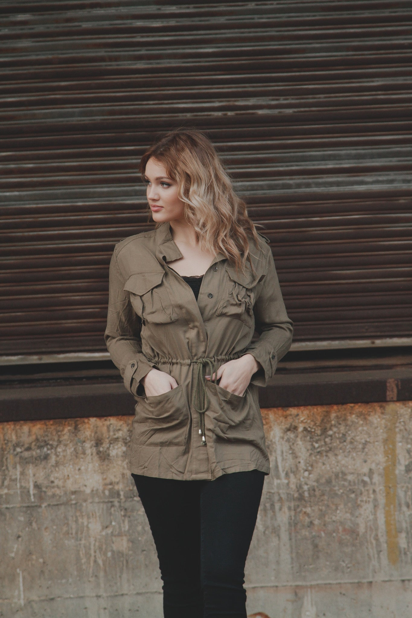 Safari Jacket w/Waist Tie