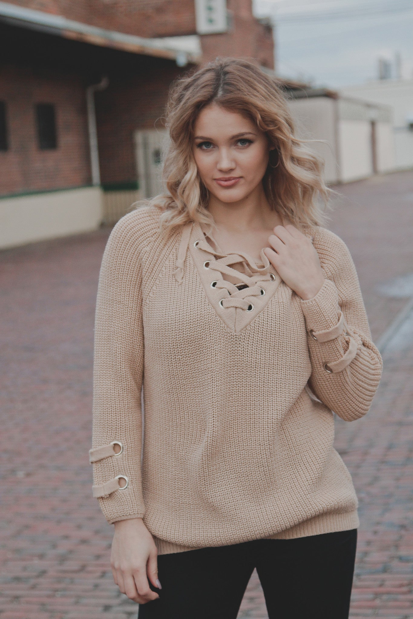 Hollow Out Loose Knit Sweater