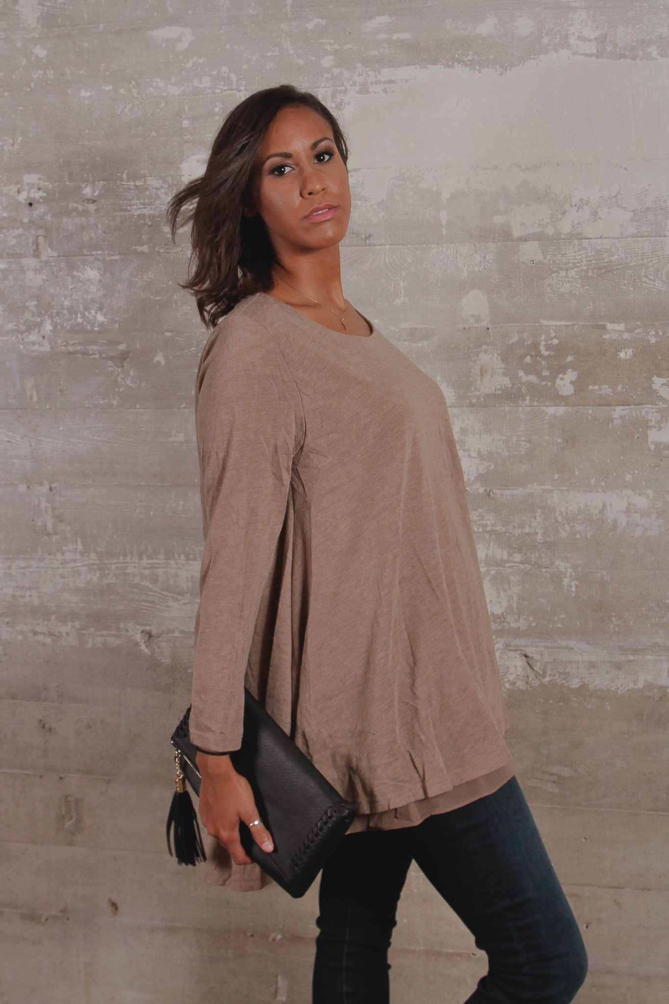 Long Sleeve Layered Flare Top
