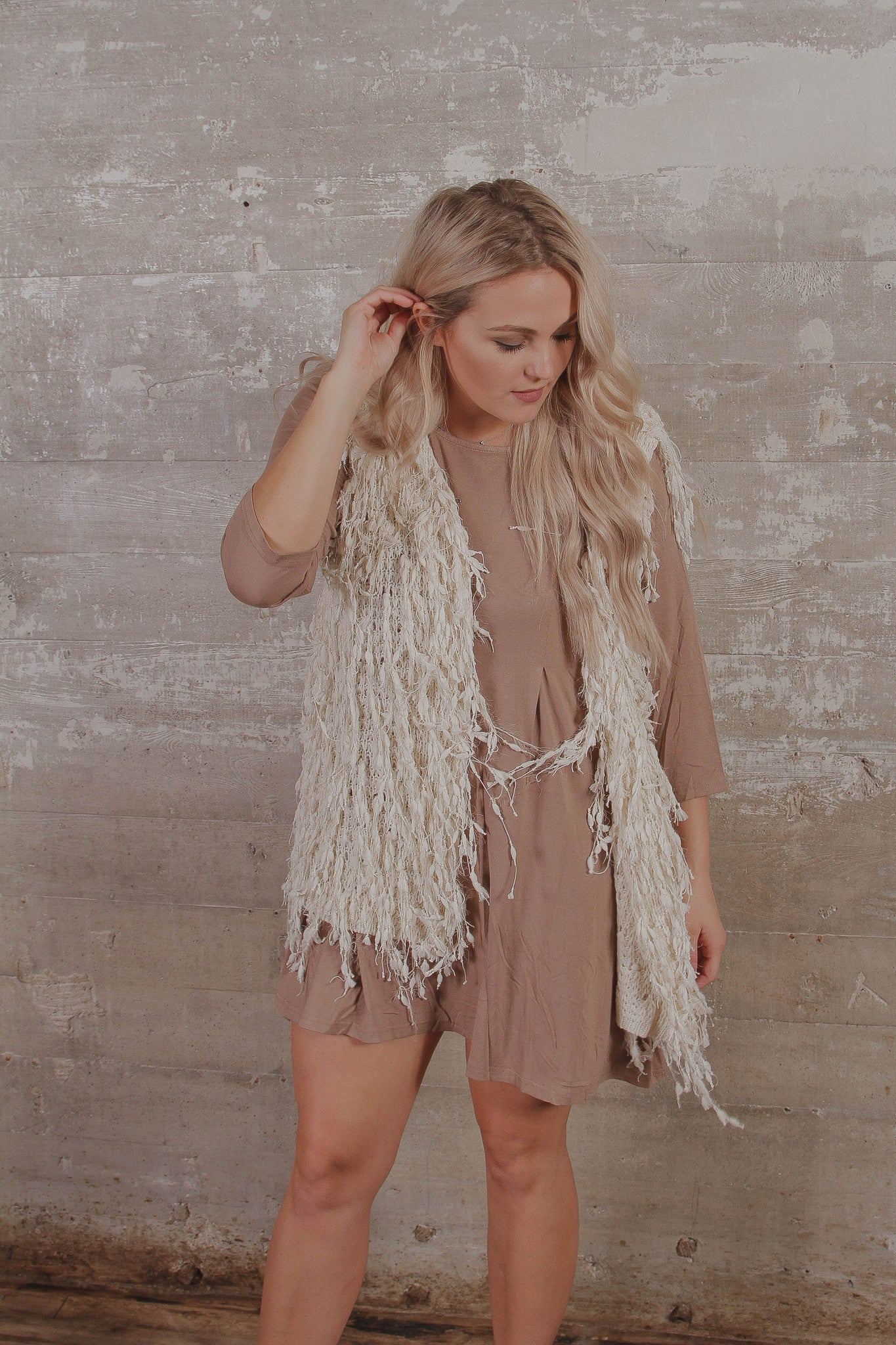 Sleeveless Shaggy Vest