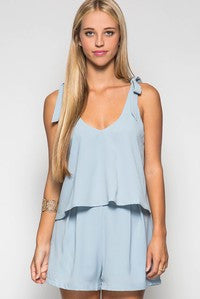 Sleeveless Layered Romper